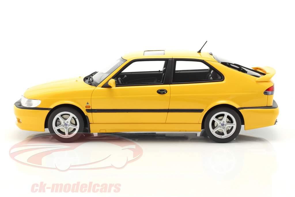 Saab 9-3 Viggen Coupe Byggeår 2000 gul metallisk 1:18 DNA Collectibles