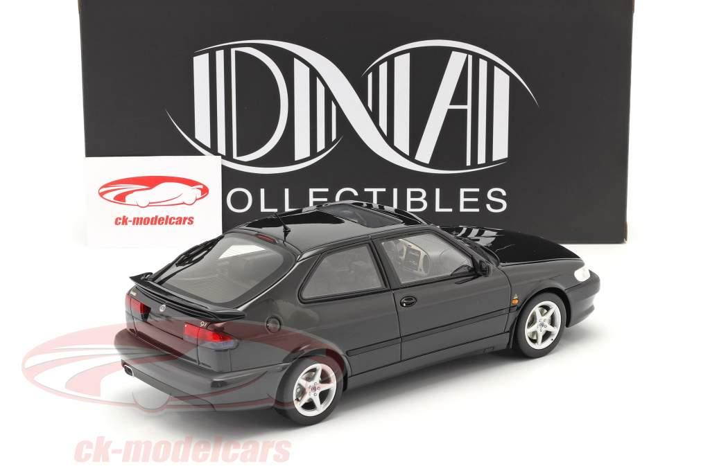 Saab 9-3 Viggen Coupe Byggeår 2000 sort metallisk 1:18 DNA Collectibles