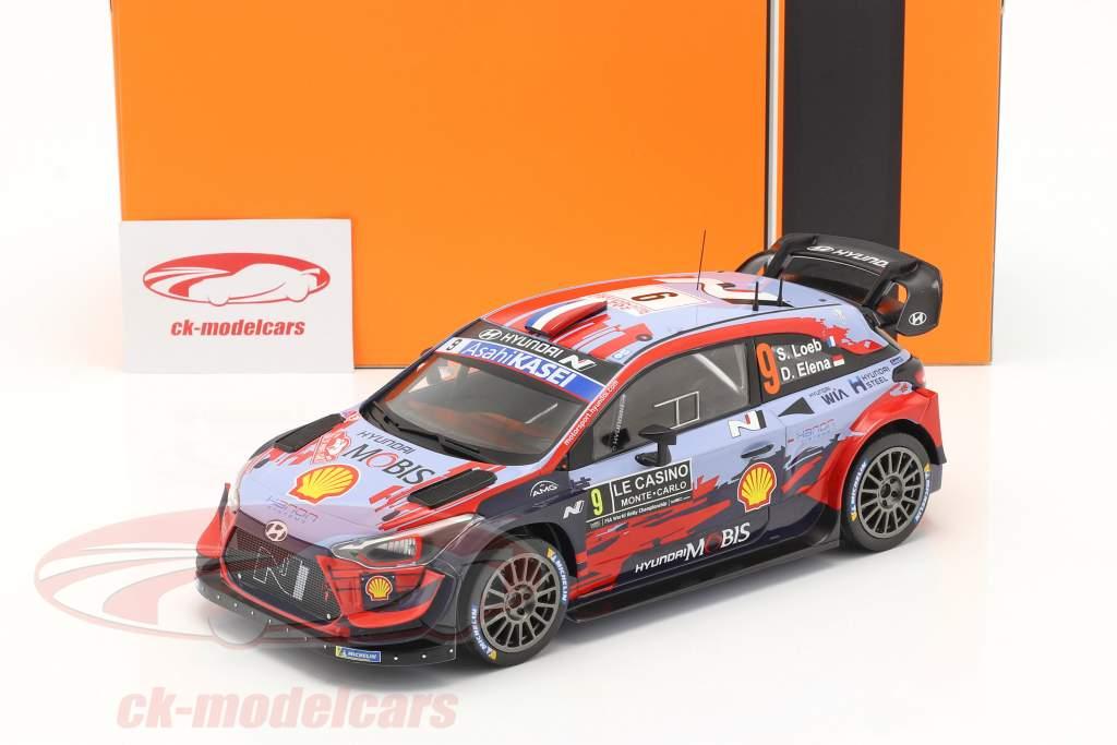 Hyundai i20 Coupe WRC #9 Rally Monte Carlo 2020 Loeb. Elena 1:18 Ixo