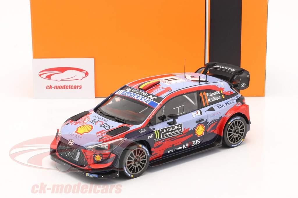 Hyundai i20 Coupe WRC #11 Winner Rally Monte Carlo 2020 Neuville, Gilsoul 1:18 Ixo