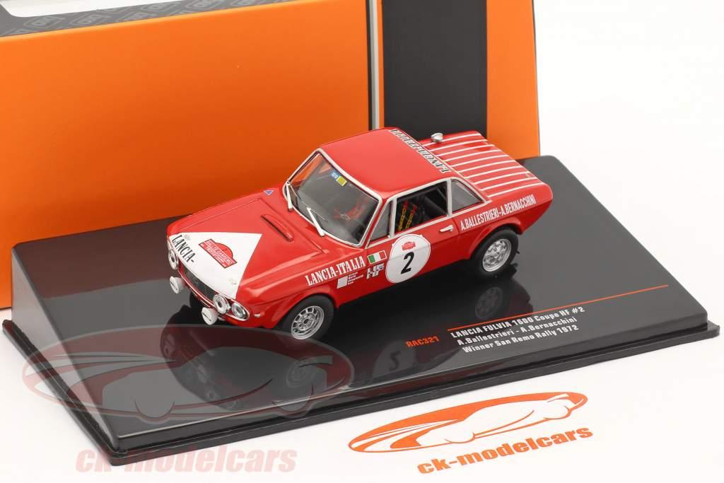 Lancia Fulvia 1600 Coupe HF #2 Vencedora Rallye San Remo 1972 1:43 Ixo