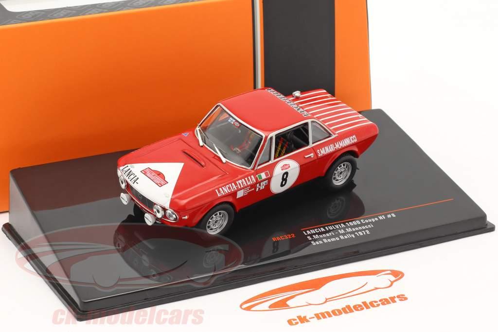 Lancia Fulvia 1600 Coupe HF #8 Rallye San Remo 1972 Munari, Mannucci 1:43 Ixo