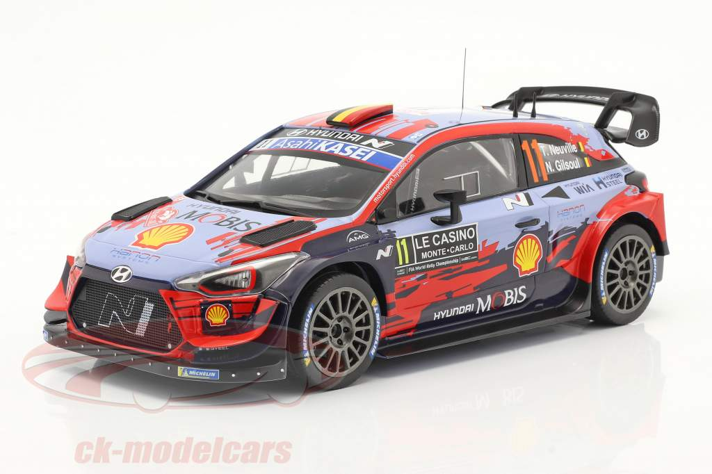 Hyundai i20 Coupe WRC #11 Ganador Rallye Monte Carlo 2020 Neuville, Gilsoul 1:18 Ixo