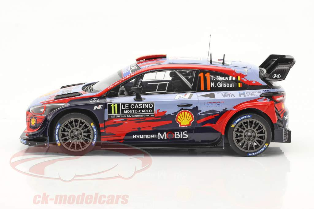 Hyundai i20 Coupe WRC #11 Winnaar Rallye Monte Carlo 2020 Neuville, Gilsoul 1:18 Ixo