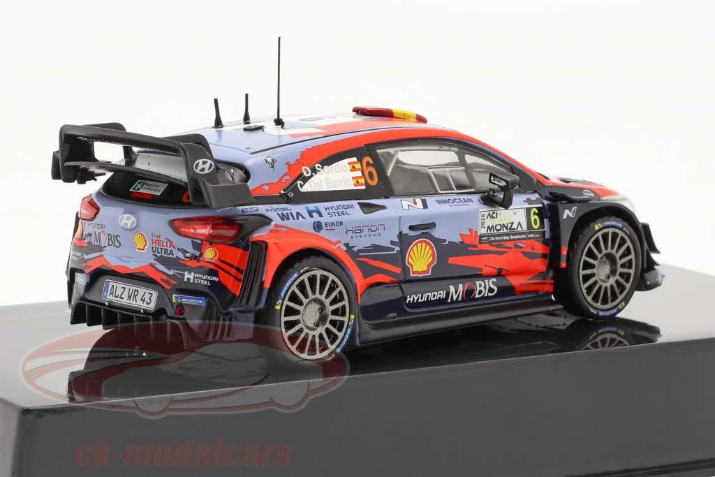 Hyundai i20 Coupe WRC #6 Tercero ACI Rallye Monza 2020 Sordo, Del Barrio 1:43 Ixo
