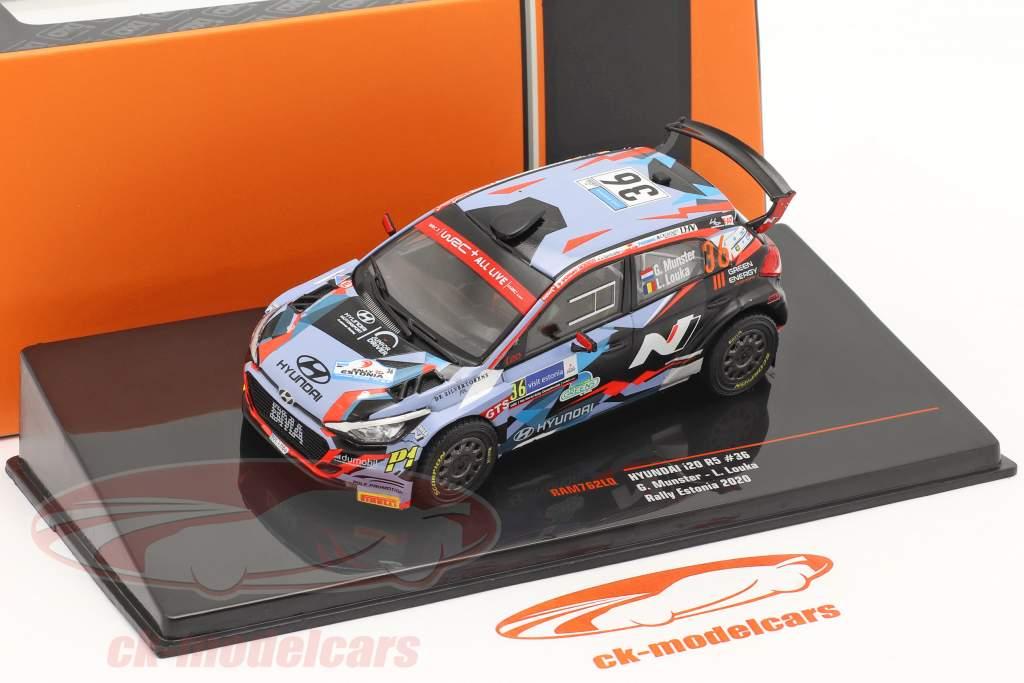Hyundai i20 R5 #36 Rallye Estônia 2020 Munster, Louka 1:43 Ixo