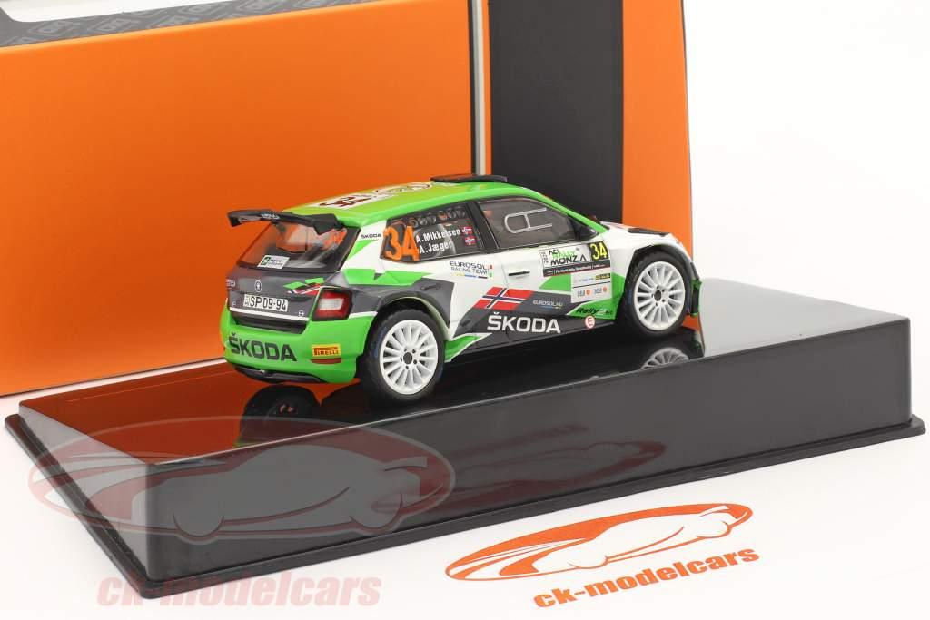 Skoda Fabia R5 Evo #34 ACI Rallye Monza 2020 Mikkelsen, Jaeger 1:43 Ixo