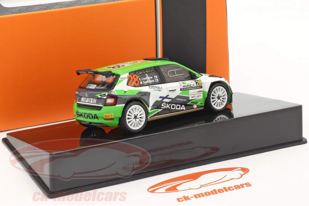 Skoda Fabia R5 Evo #28 ACI Rally Monza 2020 Lindholm, Korhonen 1:43 Ixo