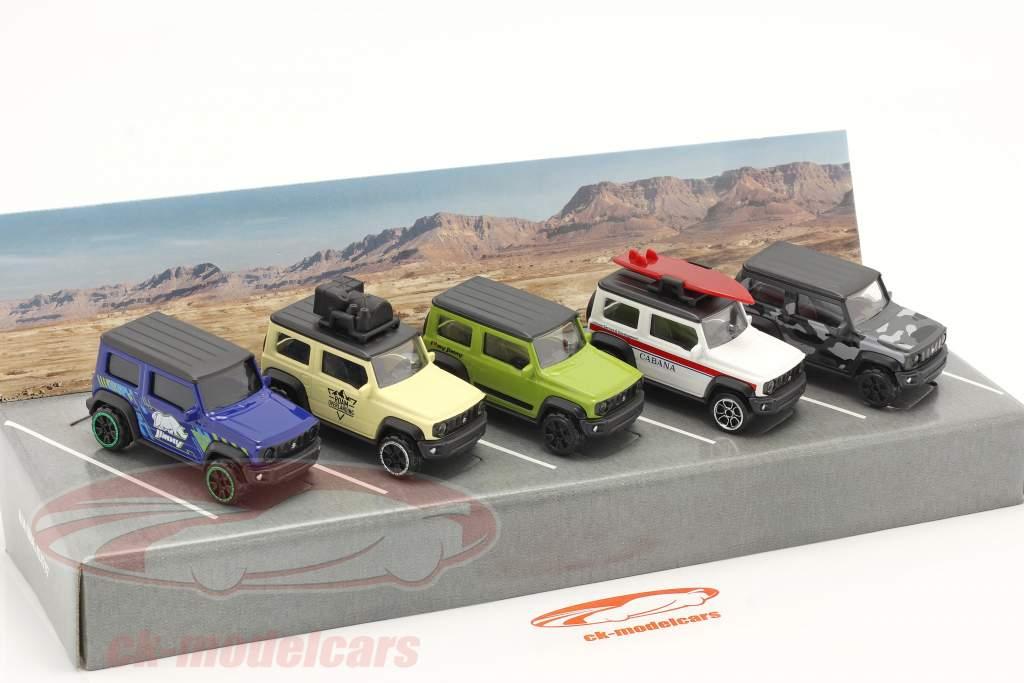 5 carros definir Suzuki Jimny 1:64 Majorette