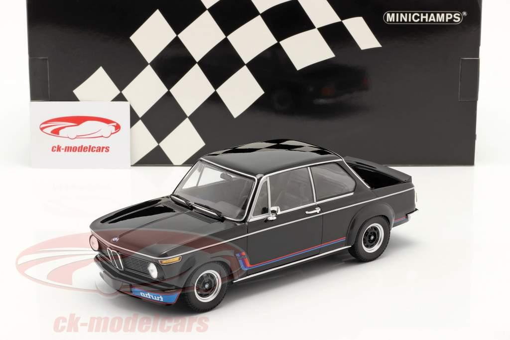 BMW 2002 Turbo Año de construcción 1973 negro 1:18 Minichamps