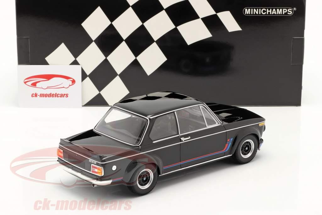 BMW 2002 Turbo Anno di costruzione 1973 Nero 1:18 Minichamps