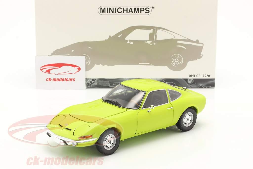 Opel GT bouwjaar 1970 licht groen 1:18 Minichamps