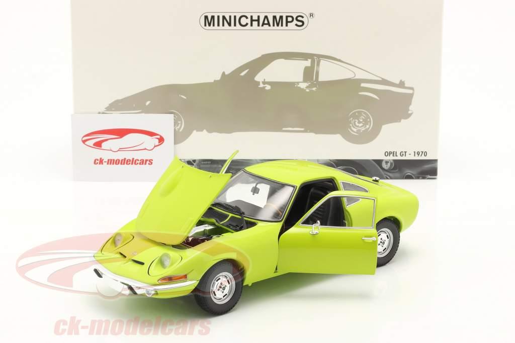 Opel GT Byggeår 1970 lysegrøn 1:18 Minichamps