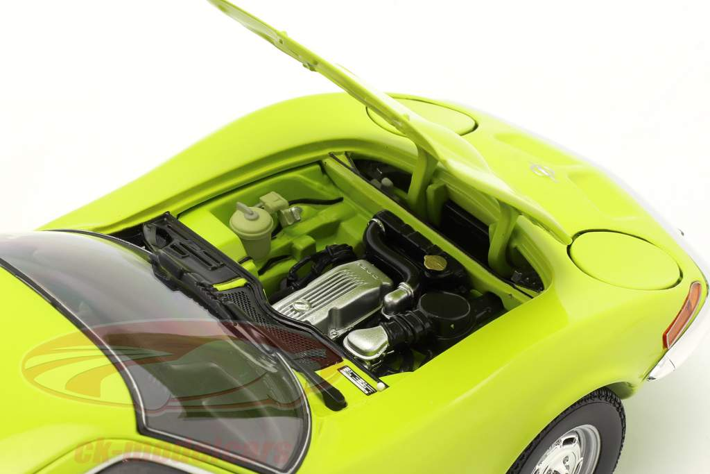 Opel GT Ano de construção 1970 luz verde 1:18 Minichamps