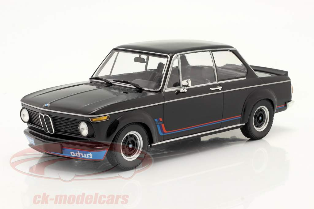 BMW 2002 Turbo Byggeår 1973 sort 1:18 Minichamps