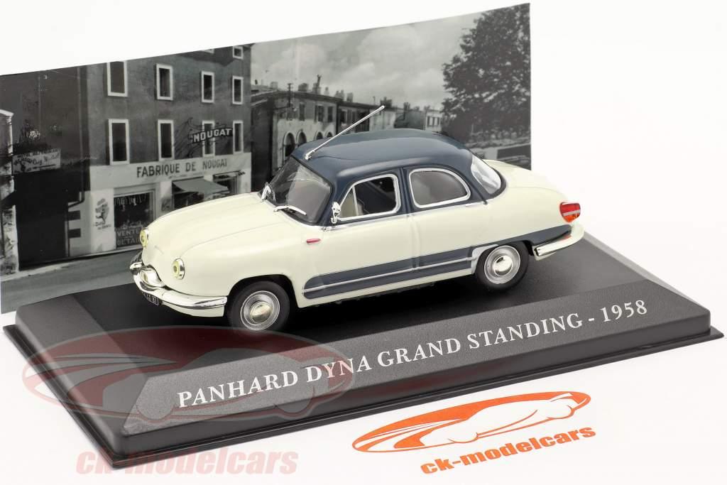 Panhard Dyna Z16 Grand Standing Jaar 1958 wit / donkerblauw 1:43 Altaya