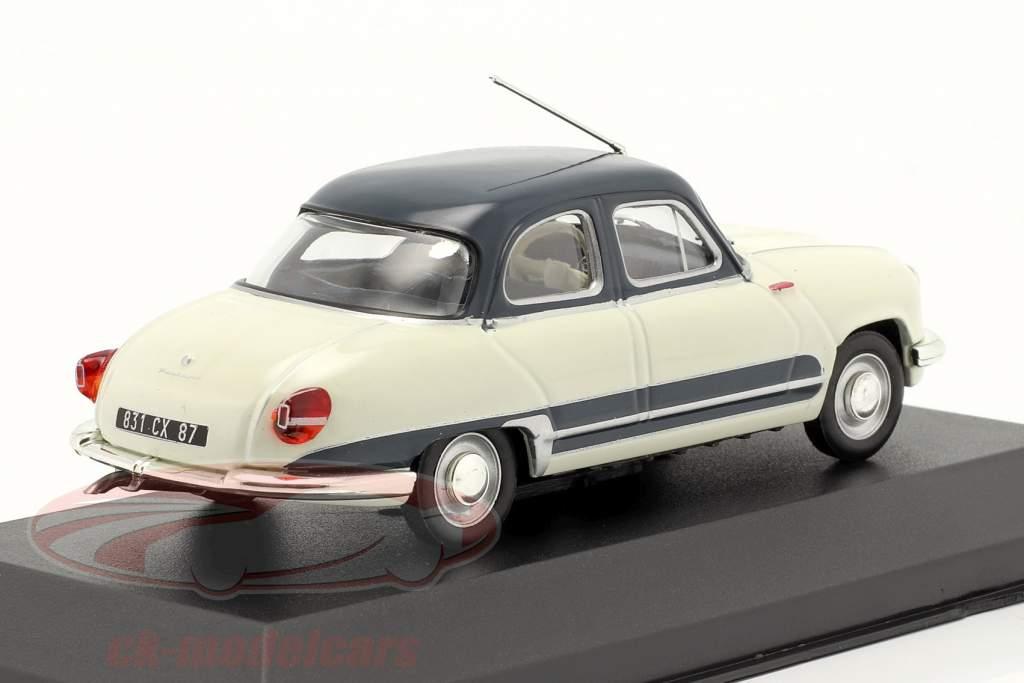 Panhard Dyna Z16 Grand Standing Year 1958 white / dark blue 1:43 Altaya