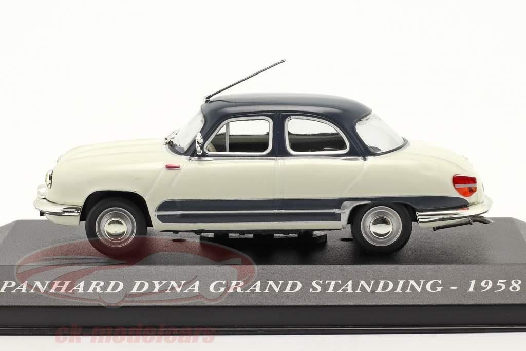 Panhard Dyna Z16 Grand Standing År 1958 hvid / mørkeblå 1:43 Altaya