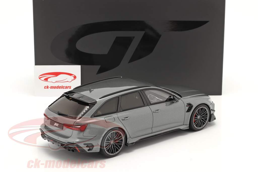 Audi A6 RS6 Avant ABT Ano de construção 2020 cinza metálico 1:18 GT-SPIRIT
