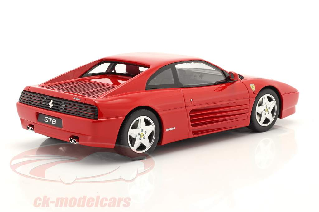 Ferrari 348 GTB bouwjaar 1993 rood 1:18 GT-SPIRIT