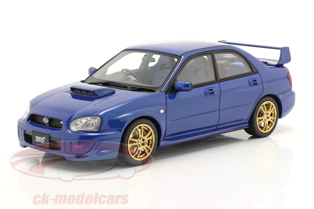 Subaru Impreza WRX STI Byggeår 2003 blå 1:18 OttOmobile