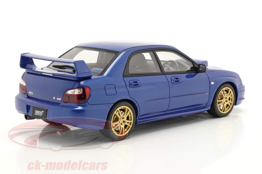 Subaru Impreza WRX STI Año de construcción 2003 azul 1:18 OttOmobile