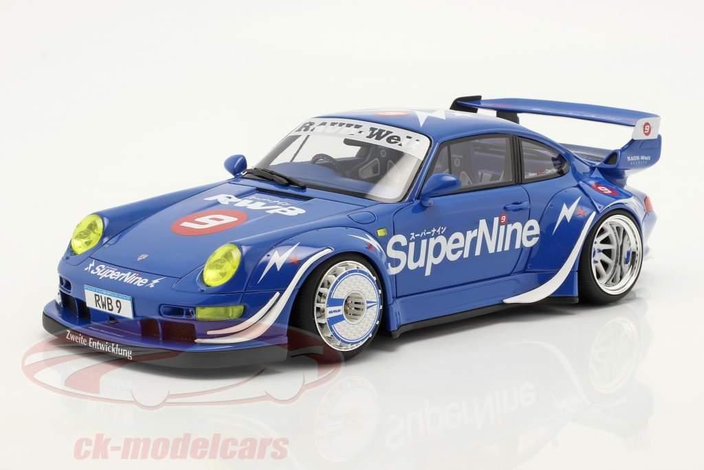 Porsche 911 (993) RWB Hong Kong #9 SuperNine 2019 blue 1:18 GT-SPIRIT