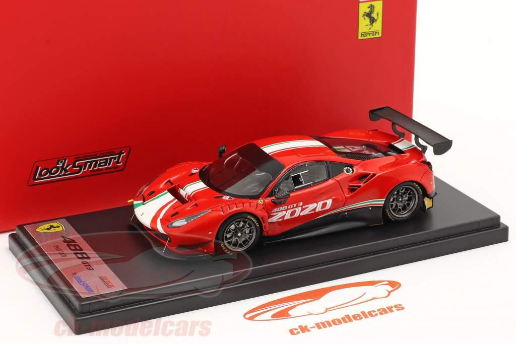 Ferrari 488 GT3 Evo Baujahr 2020 rot 1:43 LookSmart