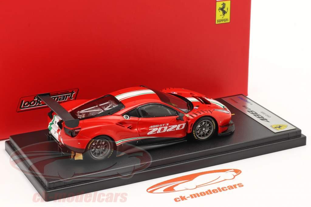 Ferrari 488 GT3 Evo bouwjaar 2020 rood 1:43 LookSmart