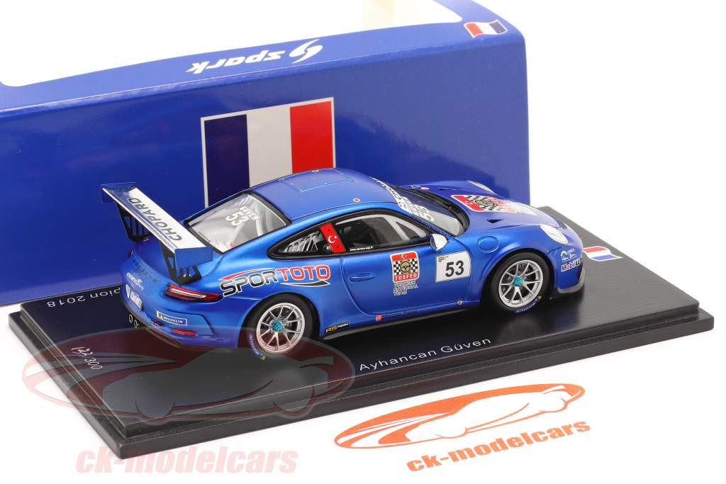 Porsche 911 GT3 Cup #53 campione Porsche Carrera Cup Francia 2018 1:43 Spark