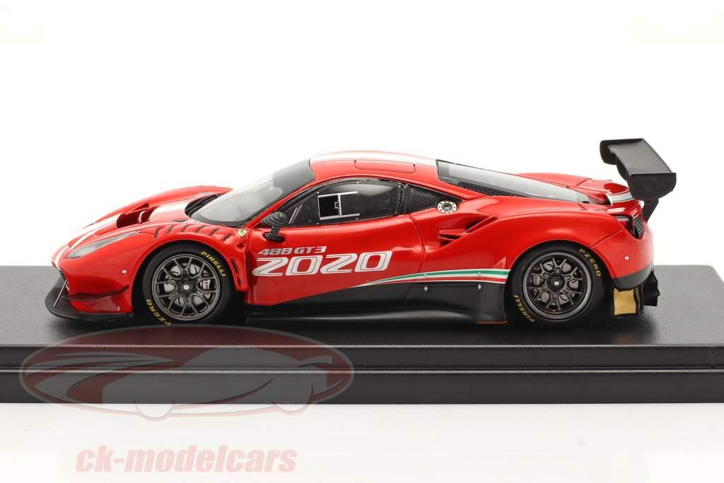 Ferrari 488 GT3 Evo Byggeår 2020 Rød 1:43 LookSmart