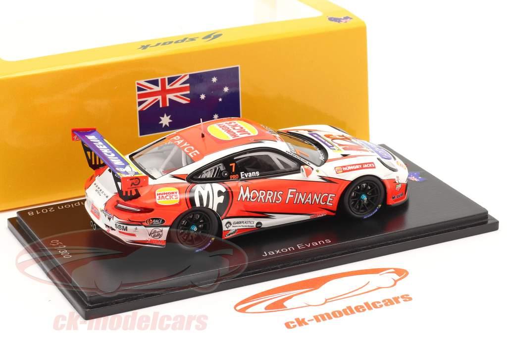 Porsche 911 GT3 Cup #7 campione Porsche Carrera Cup Australia 2018 1:43 Spark