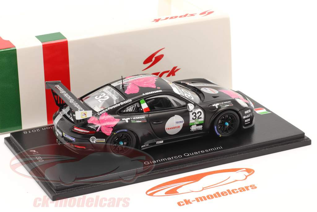 Porsche 911 GT3 Cup #32 campeão Porsche Carrera Cup Itália 2018 1:43 Spark