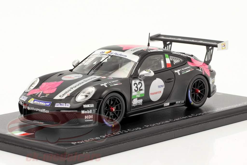 Porsche 911 GT3 Cup #32 campeón Porsche Carrera Cup Italia 2018 1:43 Spark