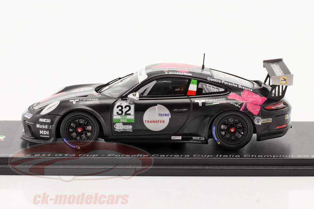 Porsche 911 GT3 Cup #32 campione Porsche Carrera Cup Italia 2018 1:43 Spark