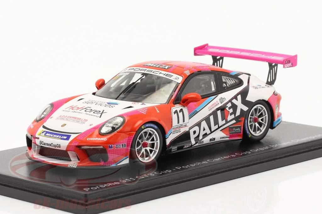 Porsche 911 GT3 Cup #11 campeón Porsche Carrera Cup Reino Unido 2018 1:43 Spark