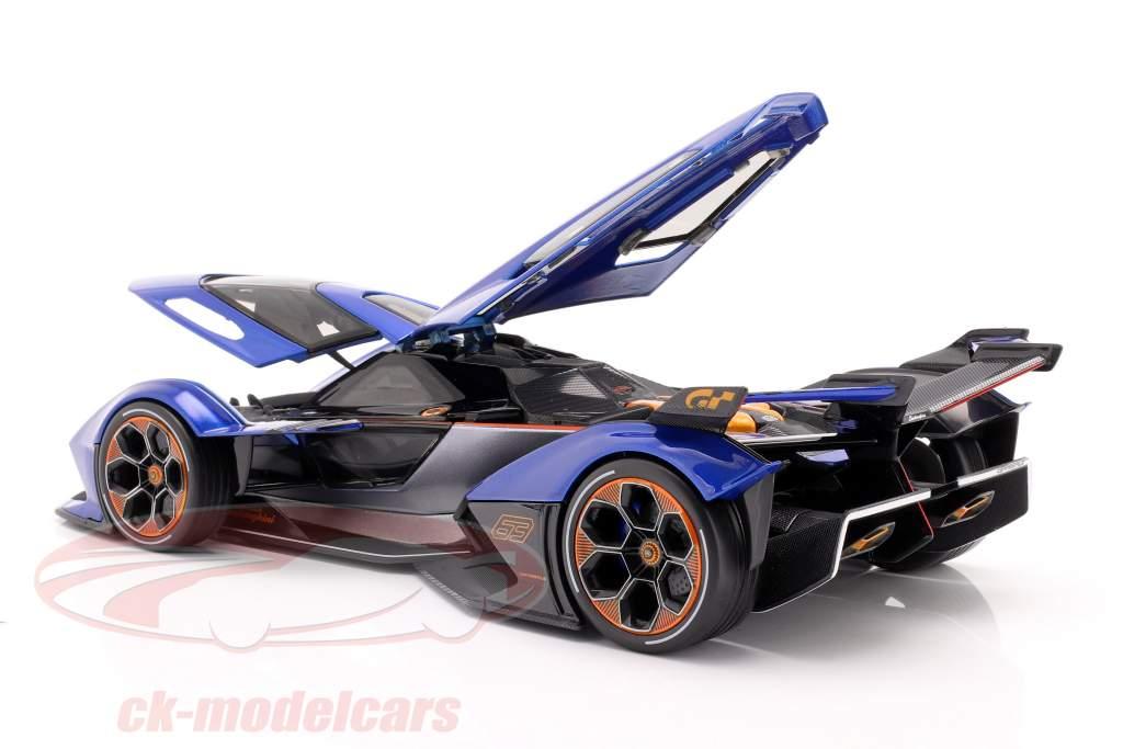 Lamborghini V12 Vision GT 2020 blå / sort 1:18 Maisto