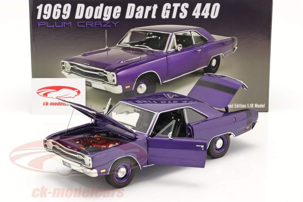 Dodge Dart GTS 440 Année de construction 1969 violet 1:18 GMP