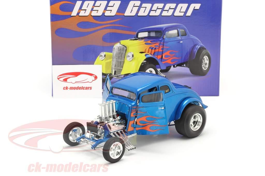 Gasser Flamed Baujahr 1933 blau / gelb 1:18 GMP