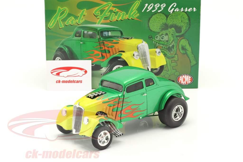 Gasser Rat Fink Baujahr 1933 grün / gelb 1:18 GMP