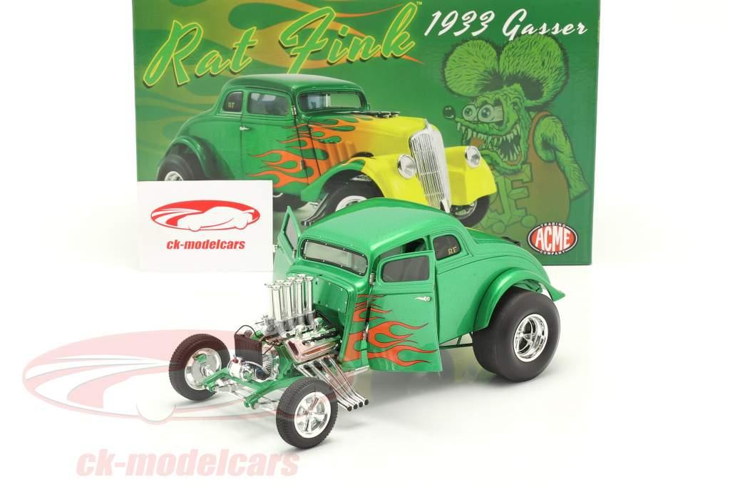 Gasser Rat Fink Byggeår 1933 grøn / gul 1:18 GMP