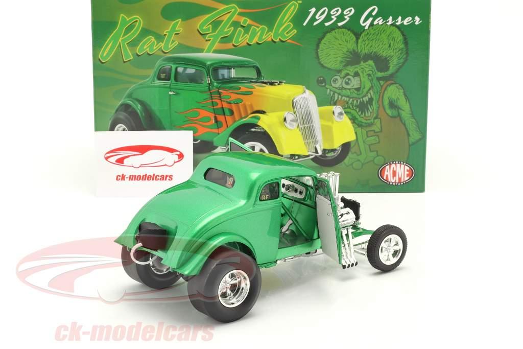 Gasser Rat Fink bouwjaar 1933 groente / geel 1:18 GMP