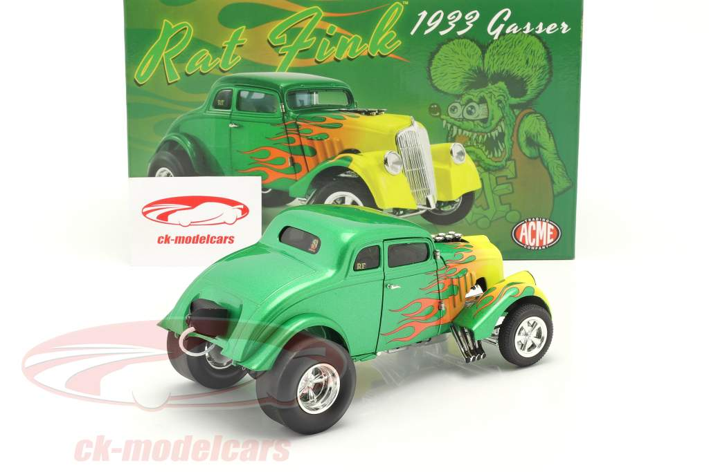 Gasser Rat Fink Anno di costruzione 1933 verde / giallo 1:18 GMP