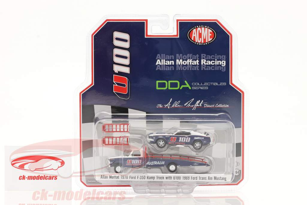 Ford F-350 Ramp Truck with Ford Trans Am Mustang U100 Allan Moffat 1:64 GMP