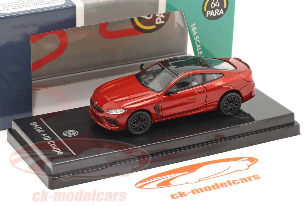 BMW M8 Coupe RHD Baujahr 2018 motegi rot 1:64 Paragon Models