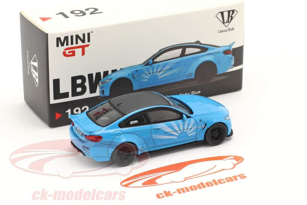 BMW M4 LB Works Baujahr 2020 baby blau 1:64 True Scale