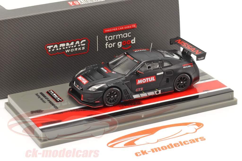 Nissan GT-R Nismo GT3 Testen versie zwart 1:64 Tarmac Works