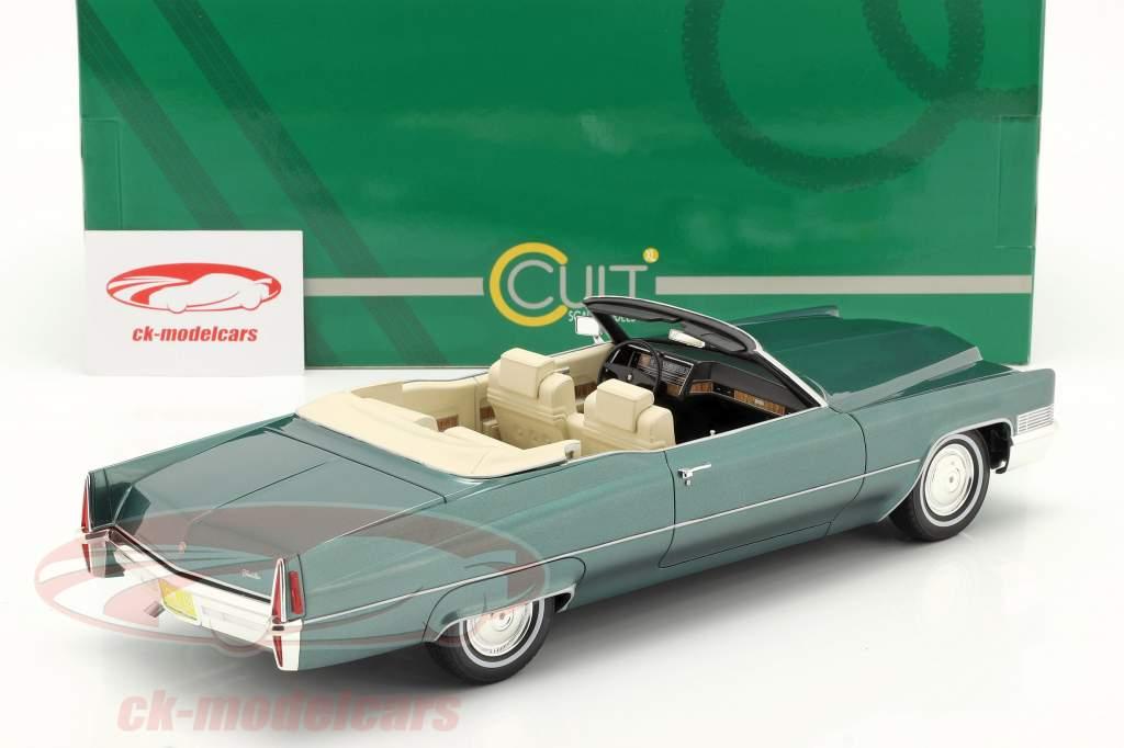 Cadillac De Ville Convertible Año de construcción 1970 verde metálico 1:18 Cult Scale
