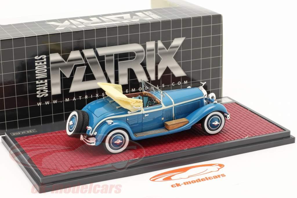 Isotta Fraschini 8A SS Castagna Roadster Open Baujahr 1929 blau 1:43 Matrix