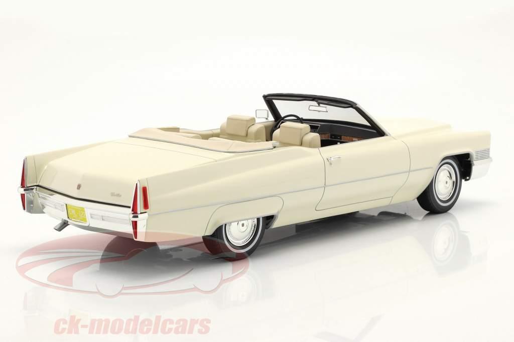 Cadillac De Ville Convertible Anno di costruzione 1970 bianco 1:18 Cult Scale